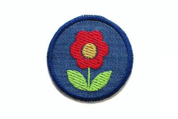 Bild: Jeans Knieflicken Hosenflicken Flicken Blume Jeansflicken Aufbügler Bügelflicken