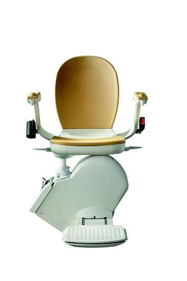 Preis Kosten von einem Treppenlift, Sitzlift oder Seniorenlift für eine gerade Treppe. Auch Behindertenlift oder Stuhllift für einen geraden Treppenverlauf genannt.