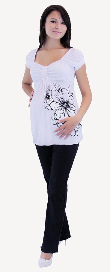 short sleeve maternity top white