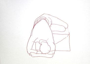 Oktober 2018 Beate »Position #3« Tusche 21 x 29,7 cm