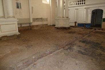 Südwestlicher Bereich, freigelegter Fußboden