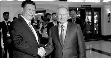 Xi Jinping e Putin   (Reuters)