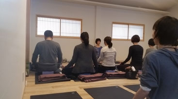 心を静めて 瞑想開始