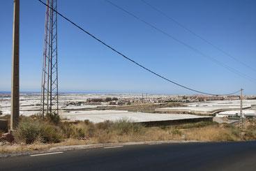 Selbst aus dem All zu erkennen: Die Gewächshäuser in der Provinz Almería.