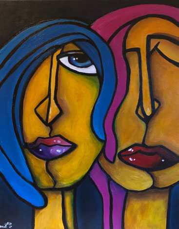 TOGETHER 40 x 50 Acryl SOLD / VERKAUFT