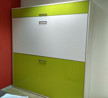 Мебель-трансформер, двухъярусная шкаф-стол-кровать