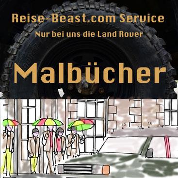 Malbuch, Landrover, Coloring, Bilder, Kinder, Malen, bunt, Stifte