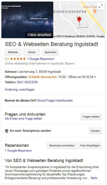 Google Business Eintrag für lokale Unternehmen - seo-webseiten-beratung.de