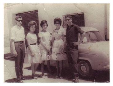 plaza de las fraguas esquina calle clavel años 60