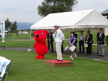 来賓挨拶(千葉県パークゴルフ協会連合会高木会長)