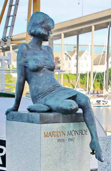 Photo of Marilyn Monroe statue in Haugesund