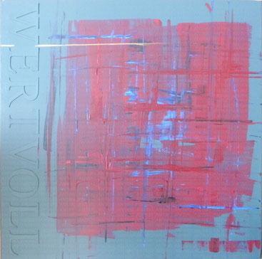 Wertvoll (2014), Mischtechnik mit Acryl auf Leinwand 60x60cm