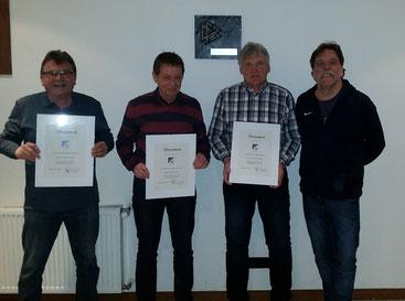 v.l. Jürgen Kaluzny, Ludger Formanowicz,Heinrich Sindern und der Vorsitzende Martin Kindermann