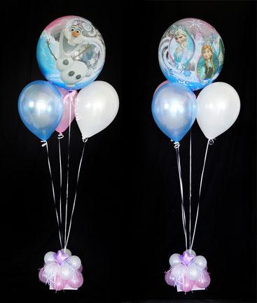 Bubble Ballon Luftballon Bouquet Frozen Olaf Helium Heliumballons Mädchen Geburtstag Überraschung Geschenk Kindergeburtstag