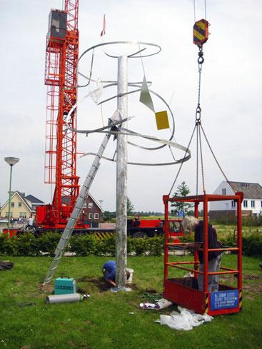 Wimpelboom Montage