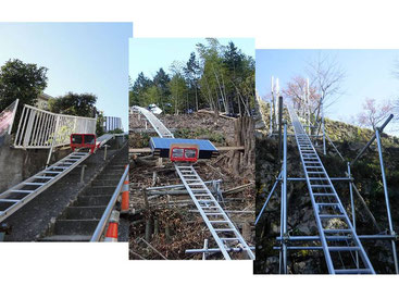 斜面・階段設置 法面リフト