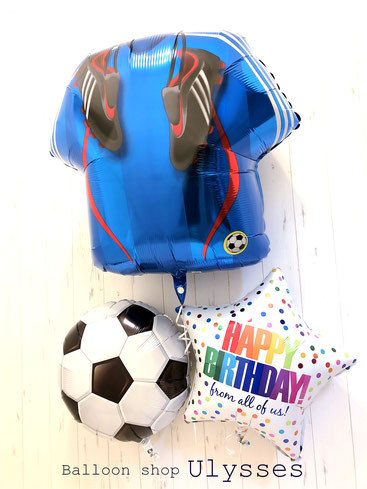 誕生日 バルーンアート 茨城県つくば市 バルーンショップユリシス バルーンギフト プレゼント サッカー