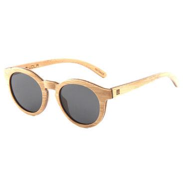 Holz Sonnenbrille Rund Bambus
