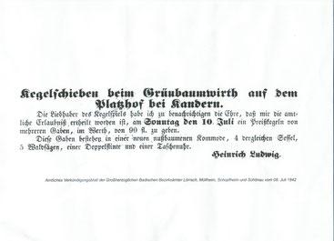 Amtliches Verkündigungsblatt Juli 1842