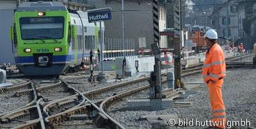 Der Zugsbetrieb wärend dem Umbau 2015