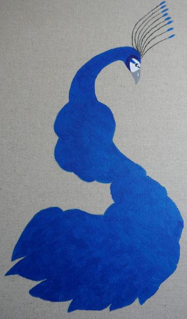 peinture tableau paon: univers emylila