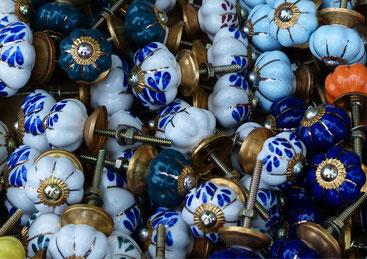Poignées boutons porcelaine