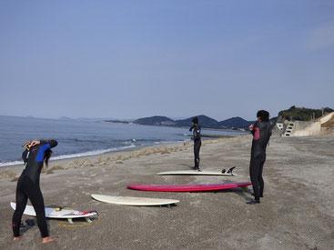 波無くてもパドリング練習!コツコツが大事です。