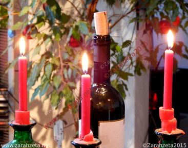 Dritter Advent mit drei Kerzen