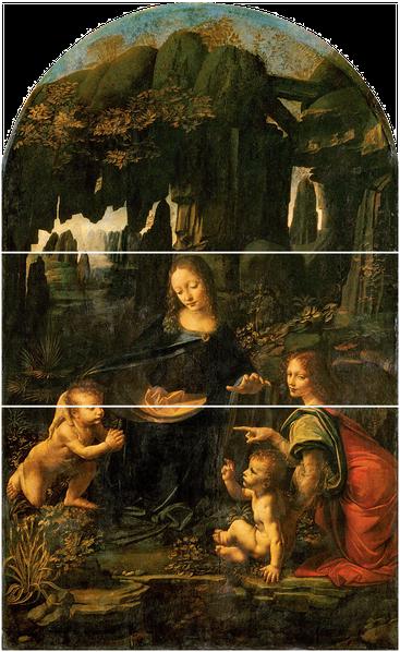 Леонардо да Винчи. Мадонна в скалах. 1483—1486 гг.