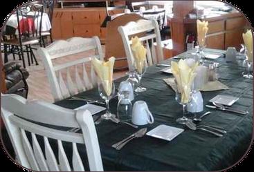 table d'hôte pour le souper
