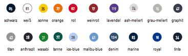 Farbtabelle Hakro Polo 110 und 810