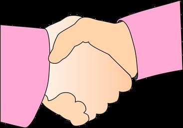 Handshake nach einem fairen Verkauf, bei dem Verkäufer und Käufer beide glücklich über den Deal sind.
