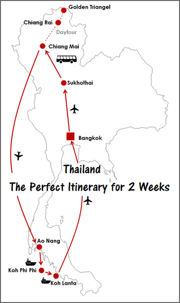 Thailand - the perfect itinerary for 2 weeks