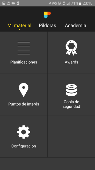 Planificacions, punts d' interès i configuració