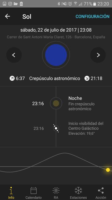 Horari events solars