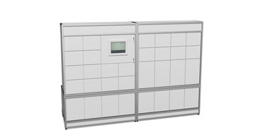 Sortieranlage verschließbar mit Einzel-Schließfachtüren, Schließfachanlage