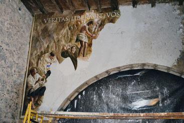 Pintura al fresco, pintura de iglesias, pintura mural, frescos contemporáneos, pittura a fresco