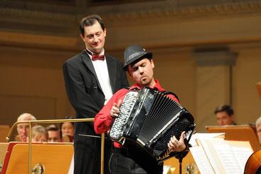 Claus Efland und Aydar Gaynullin im Neujahrskonzert 2015