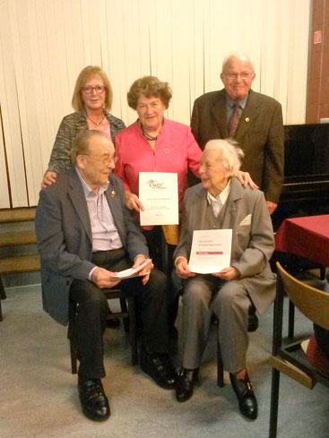 Stehend: Karin Pflimpfl, Christel Schulz und Gerd Bete; Sitzend: Hermann Nettler und Lisa Leßner