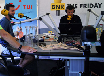 Michiel (on the left) in Dutch radio show
