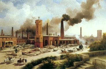 Eisengießerei, Maschinenbau, August Borsig, Industrialisierung, Berlin, Chausseestraße