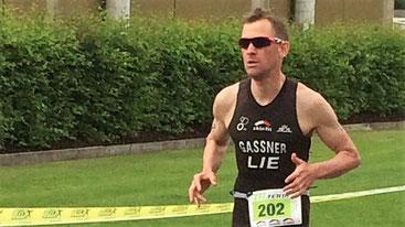 Holte sich die FL-Triathlon Krone 2017 - Daniel Gassner vom Triathlon Club Vaduz