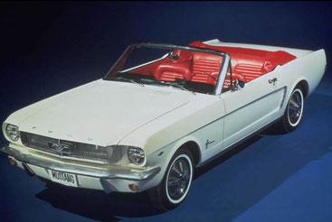 Mustang 1964½: Standard war ein 6 Zylinder (Bild Ford )