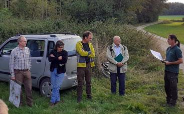 Von links: Dr. W. Kornder, Rochus Grün (BN-Ortsgruppe), Dr. R. Straußberger, Prof. Dr. Schölch, Matthias Kraft