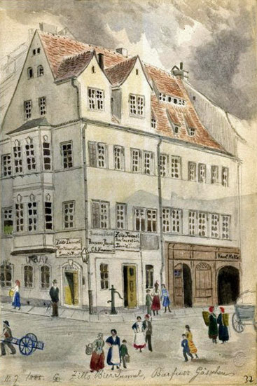 Auerbachs Hof mit Auerbachs Keller um 1780 Quelle (1)