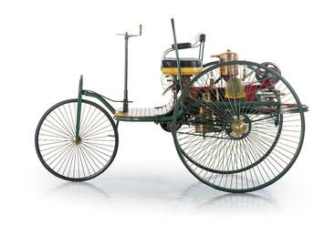 Benz Patent-Motorwagen Nummer 1 Quelle: Wikipedia