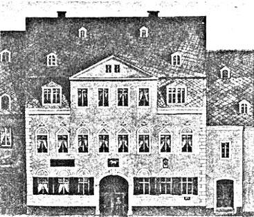Das Annaberger Postamt von 1698 - 1881 Wolkensteiner Str. 5