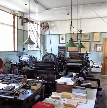 Druckmaschinen verschiedener Entwicklungsstände