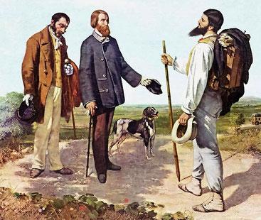 Perfekt gekleidet Quelle: Gustave Courbet - Die Begegnung