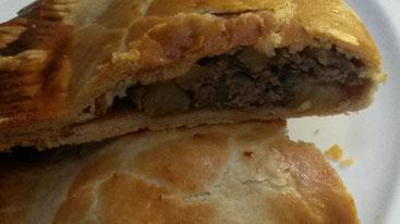 Moderne Landküche in den GiebelStuben: Pastete nach Art eines Cornish Pasties